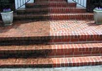 power-wash-brick-stairs-williamsburg-va